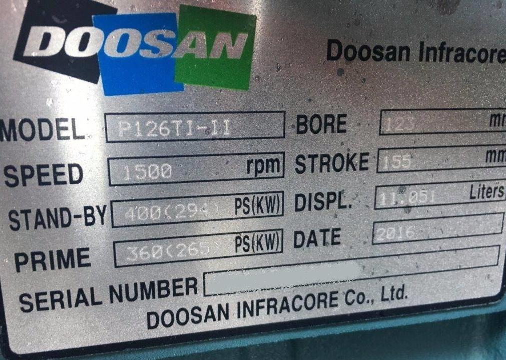 Wtryski do silnika DOOSAN P126Ti – II