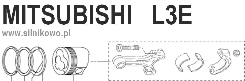 Zestaw naprawczy do silnika Mitsubishi L3E – tłok ze sworzniem, zestaw pierścieni i uszczelnienia
